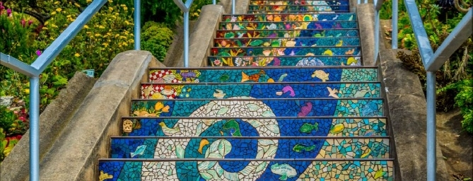 San Francisco Hidden Gems - 16th Avenue Tiled Steps